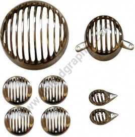 Headlight Grill Set for Royal Endield Brass